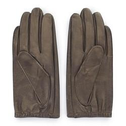 Damskie rękawiczki z gładkiej skóry, ciemny brąz, 46-6-309-G-L, Zdjęcie 1