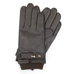 Men's gloves, dark brown, 39-6-704-BB-S, Photo 1