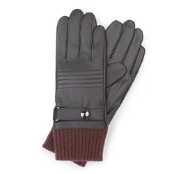 Men's gloves, dark brown, 39-6-705-BB-S, Photo 1