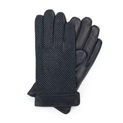 Rękawiczki męskie, czarno - szary, 39-6-714-1-L, Zdjęcie 1