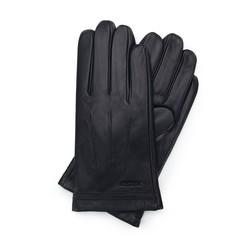 Rękawiczki męskie skórzane ocieplane, czarny, 39-6L-343-1-X, Zdjęcie 1