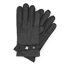 Men's gloves, black, 44-6-234-1-V, Photo 1