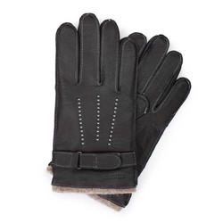 Men's gloves, black, 44-6-716-1-L, Photo 1