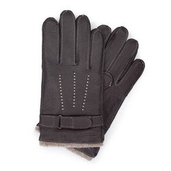 Men's gloves, dark brown, 44-6-716-BB-L, Photo 1