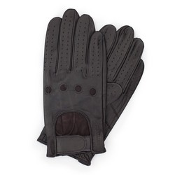 Men's gloves, dark brown, 46-6L-381-BB-V, Photo 1