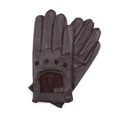 Men's gloves, dark brown, 46-6L-386-BB-S, Photo 1