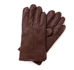 Men's gloves, brown, 39-6-308-D-M, Photo 1