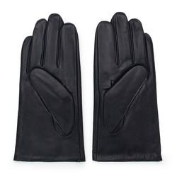 Rękawiczki męskie skórzane ocieplane, czarny, 39-6L-343-1-M, Zdjęcie 1