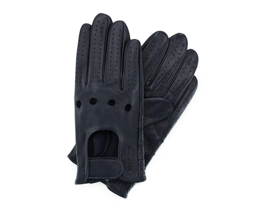 Перчатки мужскиеМужские автомобильные перчатки, изготовлены из натуральной кожи высокого качества. Преимущества модели-это функциональность, застежка на липучке облегчающая надевание и вшитая эластичная резинка, благодаря которой перчатки лучше прилегают.       Размер  V  S  M  L  XL      Длина (cм)  21,5  22  22,5  23  23,5      Ширина (cм)  9,5  10  10,5  11  11,5      Длина среднего палеца (cм)  8  8,5  9  9,5  10<br><br>секс: мужчина<br>Цвет: синий<br>Размер INT: S<br>материал:: Натуральная кожа