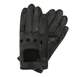 Men's gloves, black, 46-6L-386-1-L, Photo 1