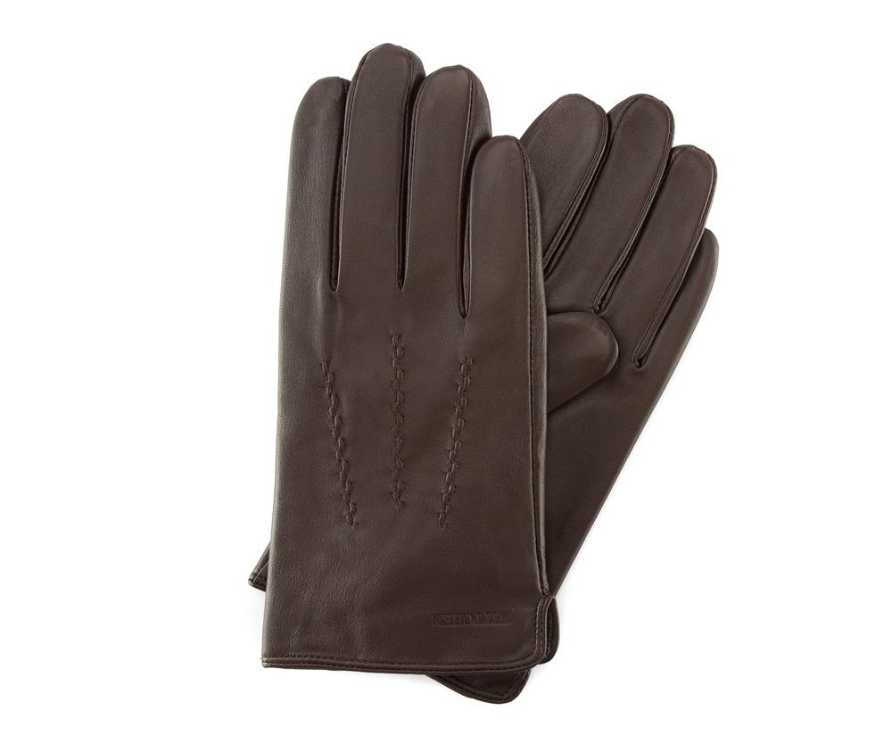 Перчатки мужские кожаныеПерчатки мужские кожаные<br><br>секс: мужчина<br>Цвет: коричневый<br>Размер INT: M
