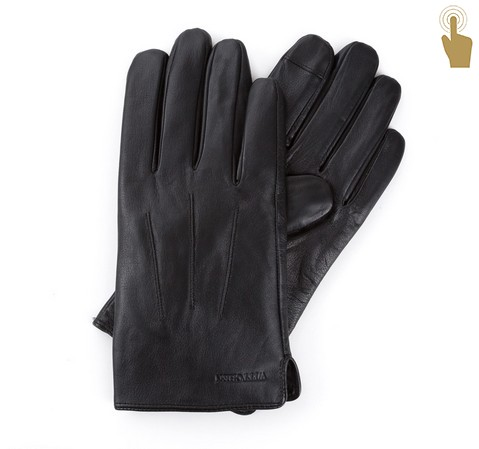 Rękawiczki męskie, czarny, 39-6L-908-1-L, Zdjęcie 1