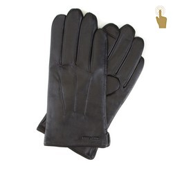 Перчатки мужские кожаные Wittchen 39-6L-908-1, черный 39-6L-908-1