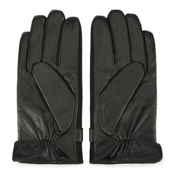 Męskie rękawiczki skórzane pikowane, czarny, 39-6-951-1-M, Zdjęcie 1