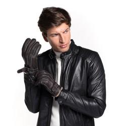 Rękawiczki męskie, ciemny brąz, 44-6-716-BB-L, Zdjęcie 1