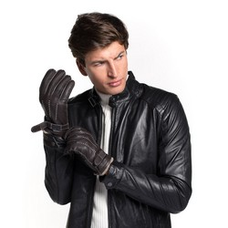 Men's gloves, dark brown, 44-6-716-BB-V, Photo 1