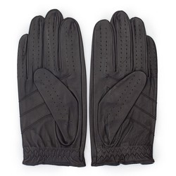 Rękawiczki męskie, ciemny brąz, 46-6L-381-BB-S, Zdjęcie 1