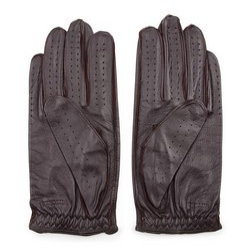 Rękawiczki męskie, ciemny brąz, 46-6L-386-BB-X, Zdjęcie 1