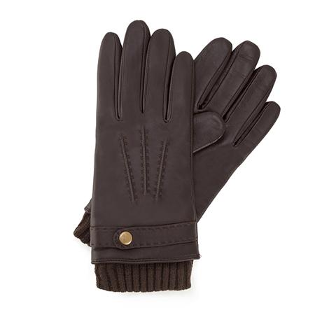 Rękawiczki męskie, ciemny brąz, 39-6-354-B-V, Zdjęcie 1