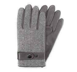 Rękawiczki męskie, szary, 39-6-355-S-S, Zdjęcie 1