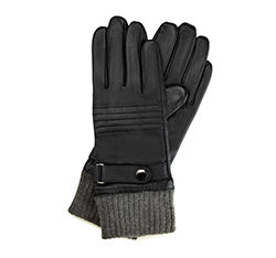 Rękawiczki męskie, czarny, 39-6-705-1-L, Zdjęcie 1