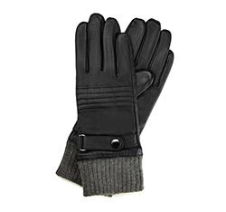 Перчатки мужские кожаные Wittchen 39-6-705-1, черный 39-6-705-1