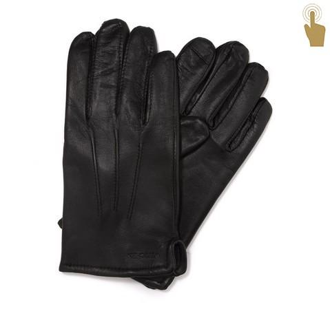 612d2f5a8c464 Ocieplane czarne rękawiczki męskie ze skóry naturalnej | WITTCHEN ...