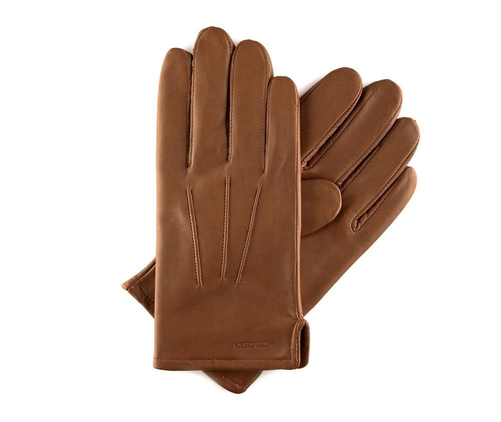Перчатки мужские кожаныеПерчатки мужские кожаные<br><br>секс: мужчина<br>Цвет: коричневый<br>Размер INT: L