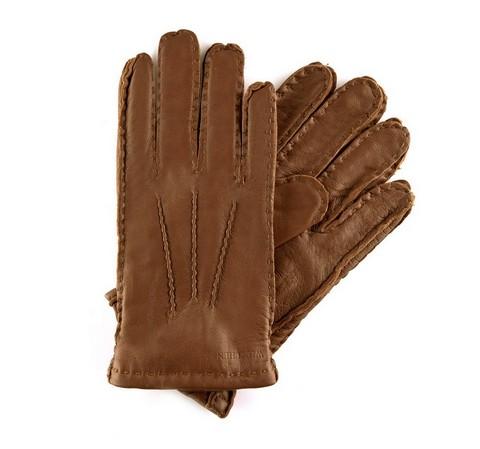 Rękawiczki męskie, brązowy, 39-6-327-6-S, Zdjęcie 1
