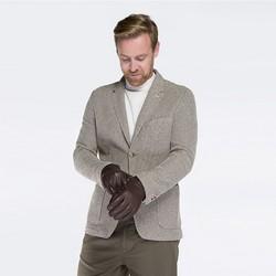 Rękawiczki męskie, ciemny brąz, 44-6-638-B-L, Zdjęcie 1