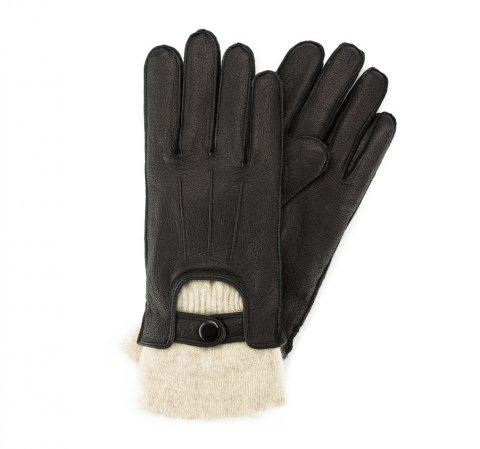 Rękawiczki męskie, czarny, 44-6-702-1-V, Zdjęcie 1