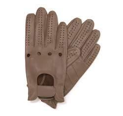 Rękawiczki męskie, beżowy, 46-6-381-0A-M, Zdjęcie 1