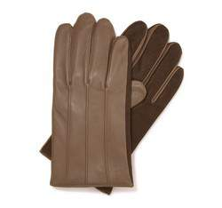 Rękawiczki męskie, beżowy, 39-6-342-0A-S, Zdjęcie 1