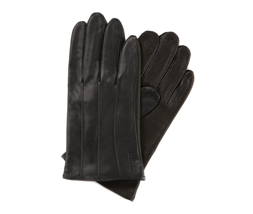 Перчатки мужские кожаныеПерчатки мужские кожаные<br><br>секс: мужчина<br>Цвет: черный<br>Размер INT: L
