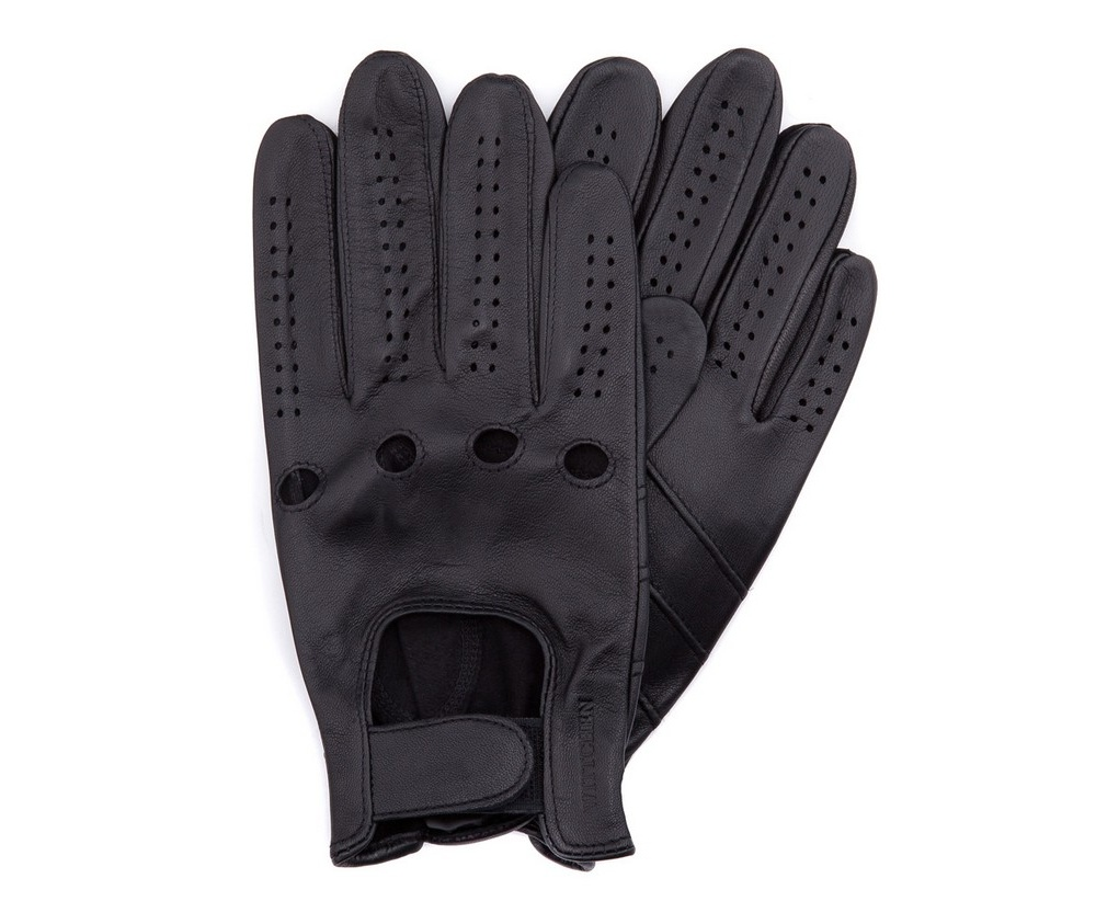 Перчатки мужские автомобильныеМужские автомобильные перчатки, изготовлены из натуральной кожи высокого качества. Преимущества модели-это функциональность, застежка на липучке облегчающая надевание и вшитая эластичная резинка, благодаря которой перчатки лучше прилегают.       Размер  V  S  M  L  XL      Длина (cм)  21  21,5  22  22,5  23      Ширина (cм)  10  10,5  11  11,5  12      Длина среднего палеца (cм)  8  8,5  9  9,5  10<br><br>секс: мужчина<br>Цвет: черный<br>Размер INT: M<br>материал:: Натуральная кожа