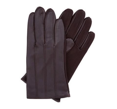 Rękawiczki męskie, ciemny brąz, 39-6-342-B-L, Zdjęcie 1