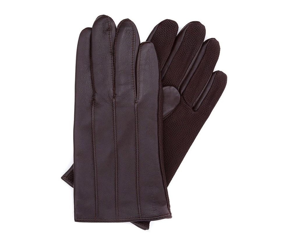 Перчатки мужские кожаныеПерчатки мужские кожаные<br><br>секс: мужчина<br>Цвет: коричневый<br>Размер INT: XL