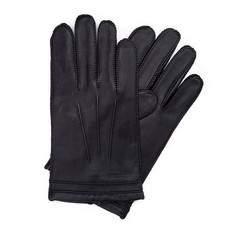 Перчатки мужские кожаные Wittchen 39-6-343-1, черный 39-6-343-1