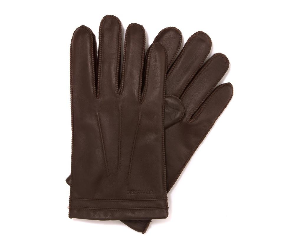 Перчатки мужские кожаные Wittchen 39-6-343-K, коричневыйПерчатки мужские кожаные<br><br>секс: мужчина<br>Цвет: коричневый<br>Размер INT: L