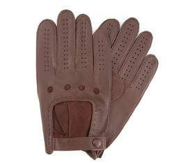 Men's gloves, brown, 46-6-386-D-S, Photo 1