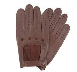 Rękawiczki męskie, brązowy, 46-6-386-D-V, Zdjęcie 1