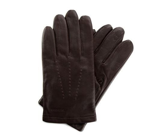 Rękawiczki męskie, ciemny brąz, 39-6-346-B-S, Zdjęcie 1
