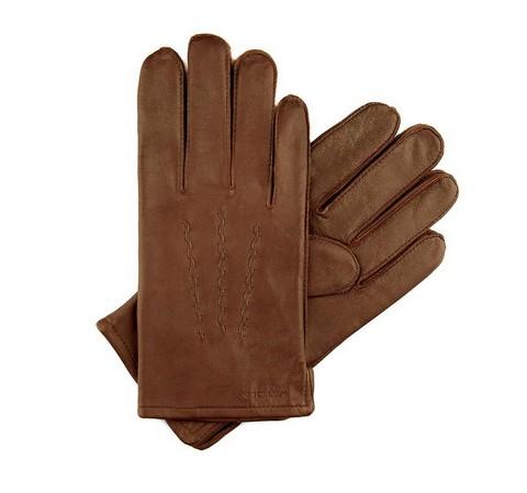 Rękawiczki męskie, brązowy, 45-6-328-B-S, Zdjęcie 1