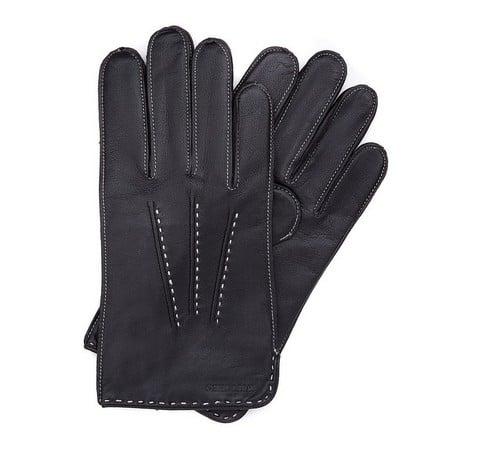 Rękawiczki męskie, czarny, 39-6-348-K-L, Zdjęcie 1