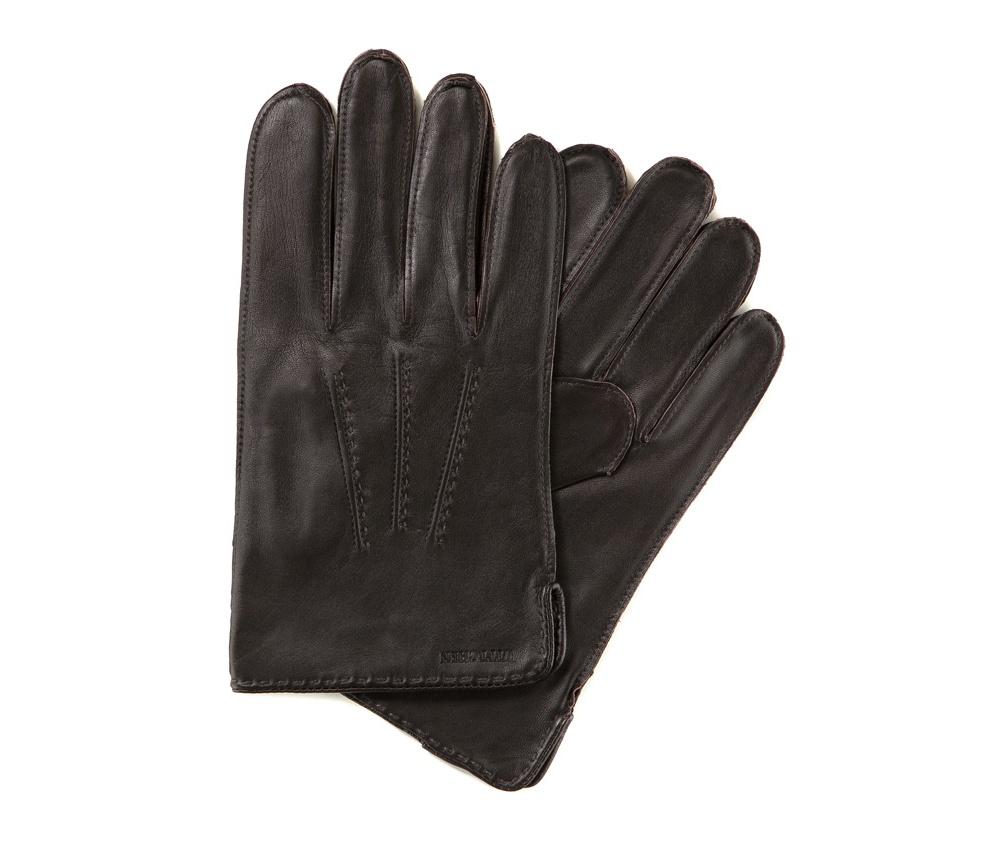 Перчатки мужские кожаные Wittchen 39-6-348-D, темно-коричневыйПерчатки мужские кожаные<br><br>секс: мужчина<br>Цвет: коричневый<br>Размер INT: L
