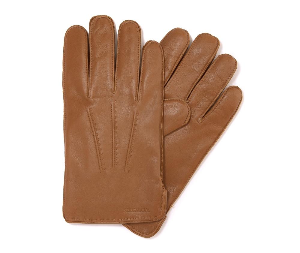 Перчатки мужские кожаные Wittchen 39-6-348-L, светло-коричневыйПерчатки мужские кожаные<br><br>секс: мужчина<br>Цвет: коричневый<br>Размер INT: L