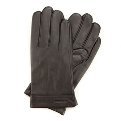 Men's gloves, dark brown, 44-6-717-BB-M, Photo 1