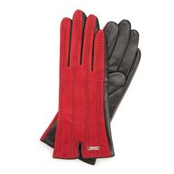 Rękawiczki damskie, czerwono - czarny, 39-6-912-2T-L, Zdjęcie 1