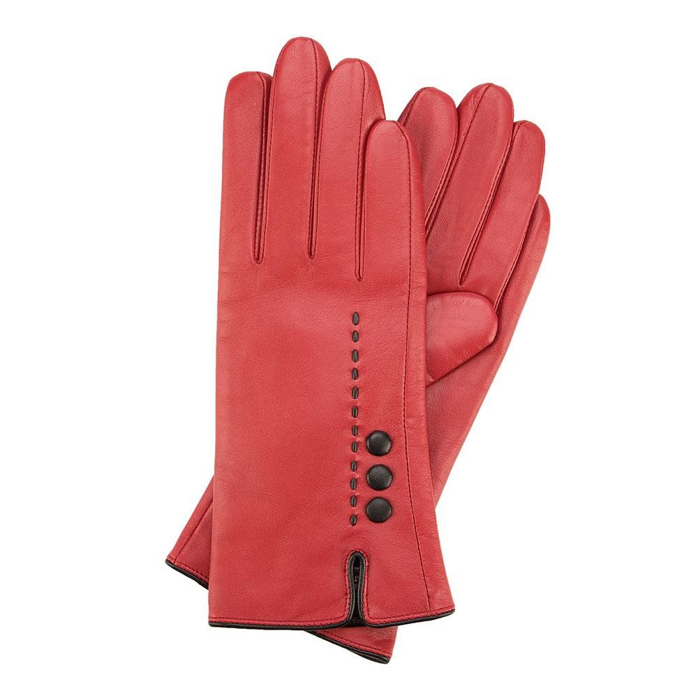 Červené dámske rukavice.
