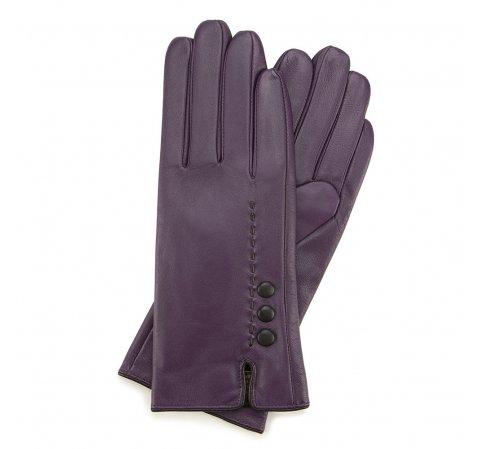Rękawiczki damskie, fioletowo - czarny, 39-6-913-2T-X, Zdjęcie 1